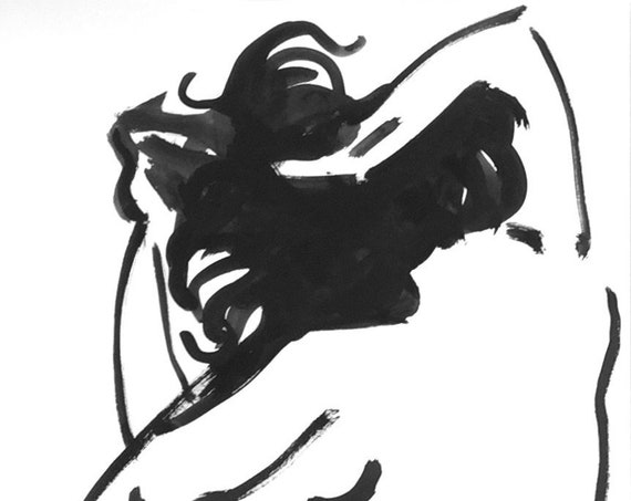 One Minute Pose 133.9 original painting of nude by Gretchen Kelly