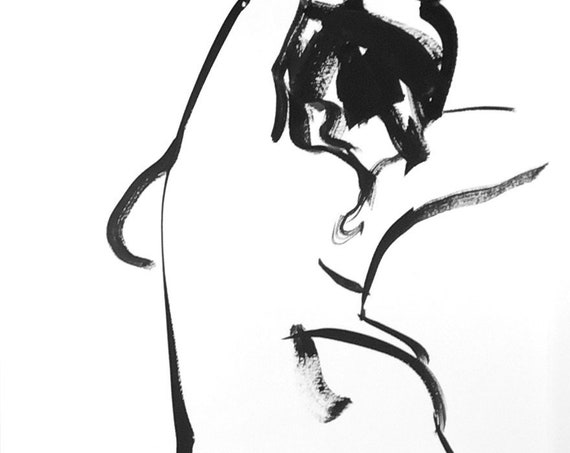One Minute Pose 133.7 original painting of nude by Gretchen Kelly