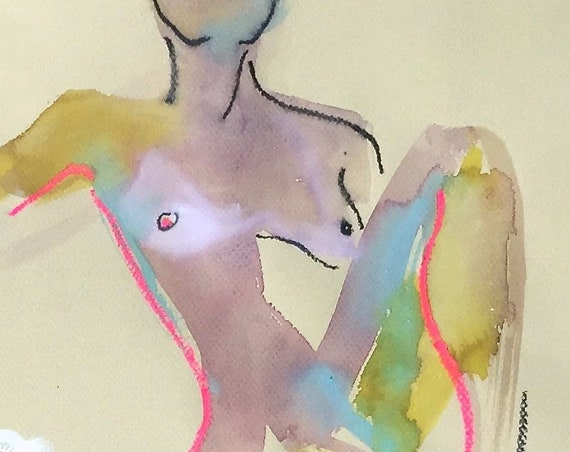 Nude painting#1544  Original painting by Gretchen Kelly