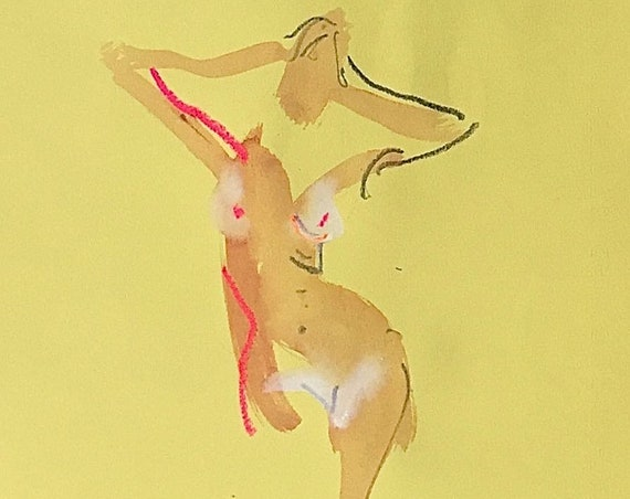 Nude painting of One minute pose 115.1 Original painting by Gretchen Kelly