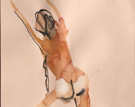 Nude painting of One minute pose 109.6 Original painting by Gretchen Kelly