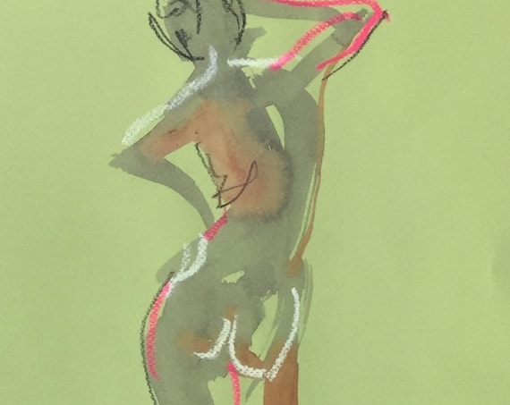 Nude painting of One minute pose 115.4 Original painting by Gretchen Kelly