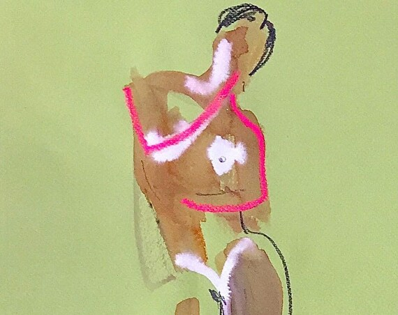 Nude painting of One minute pose 115.5 Original painting by Gretchen Kelly