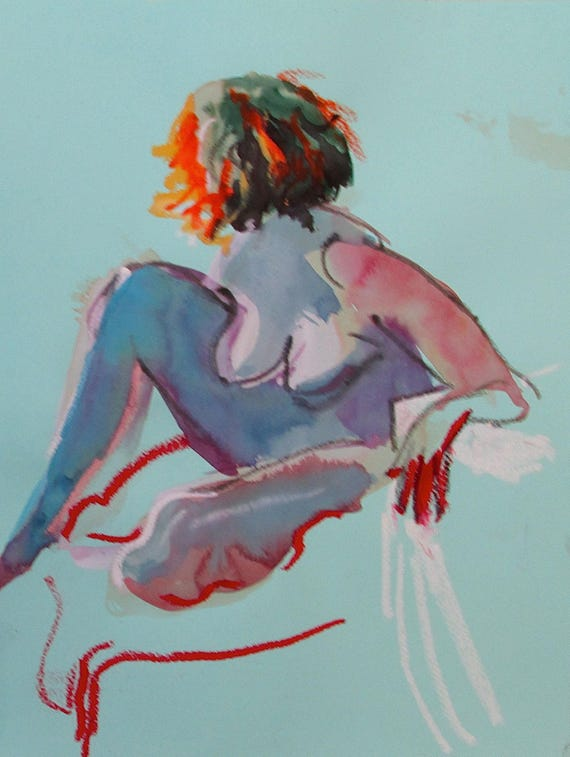 Nude painting- #1463 -original  by Gretchen Kelly