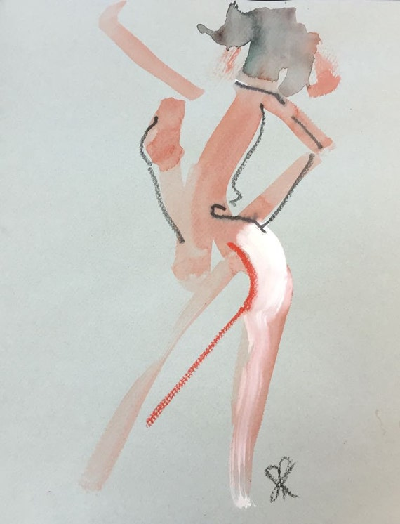 Nude painting of One minute pose 85.2  Original painting by Gretchen Kelly