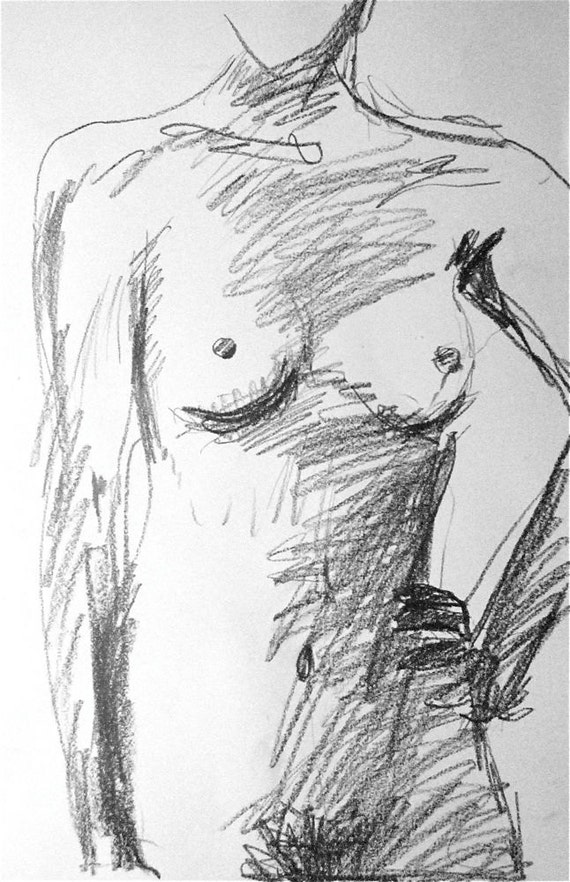 Sketch of Nude #1029B by Gretchen Kelly
