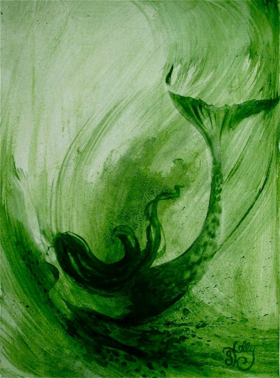 Mermaid- Summer Mermaid Sadie- original painting by Gretchen Kelly