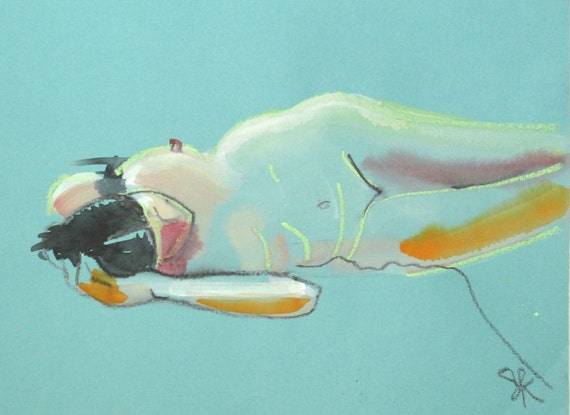 Nude painting- #1292 by Gretchen Kelly