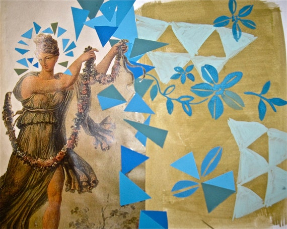 Crystal Blue Persuasion, collage by Gretchen Kelly