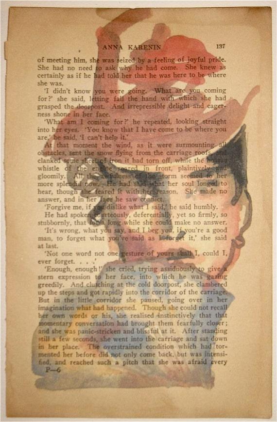Anna Karenina hides her LOVE, Portrait by Gretchen Kelly, New York Artist