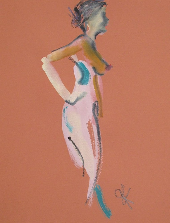 Nude painting of One minute pose 84.1 Original painting by Gretchen Kelly