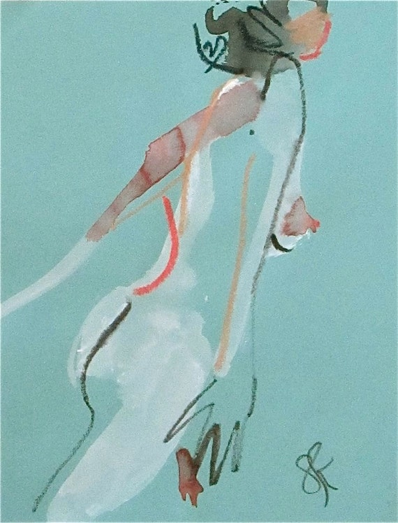 Nude painting of One minute pose 79.7  Original painting by Gretchen Kelly