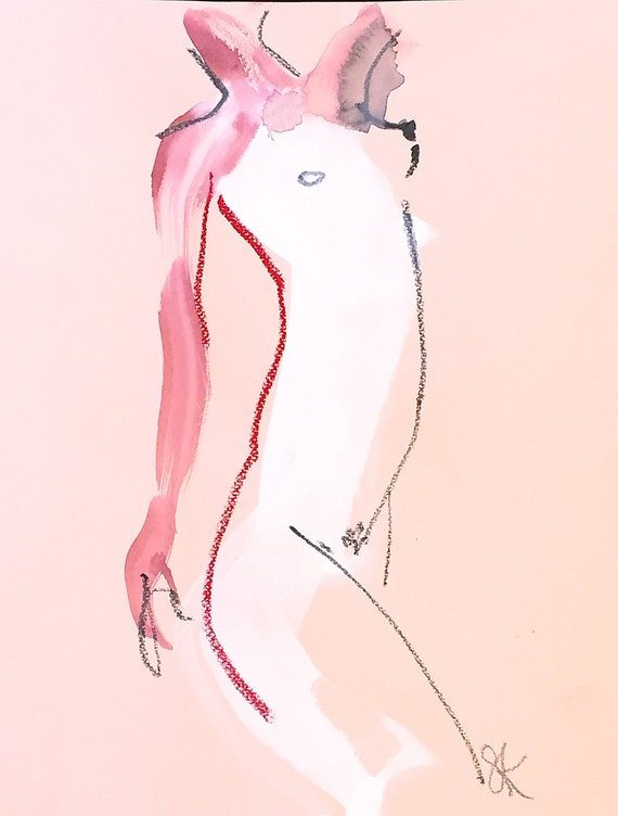 Nude painting of One minute pose 86.6 Original nude painting by Gretchen Kelly