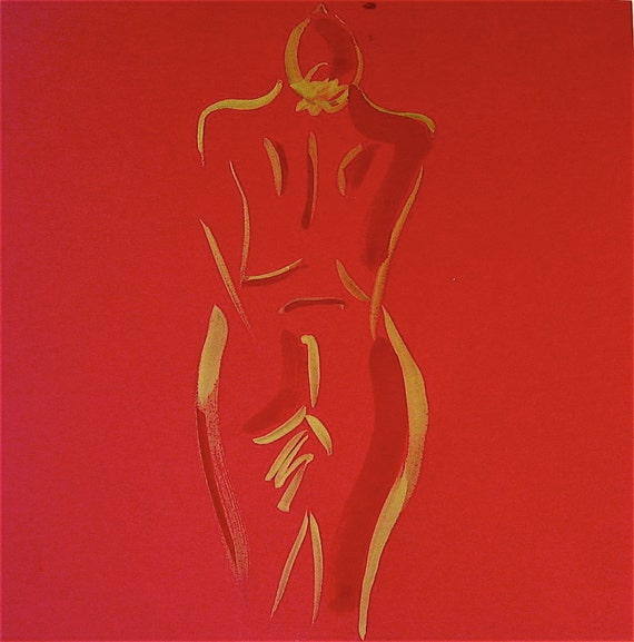 Nude 102 - quick painted sketch by Gretchen Kelly