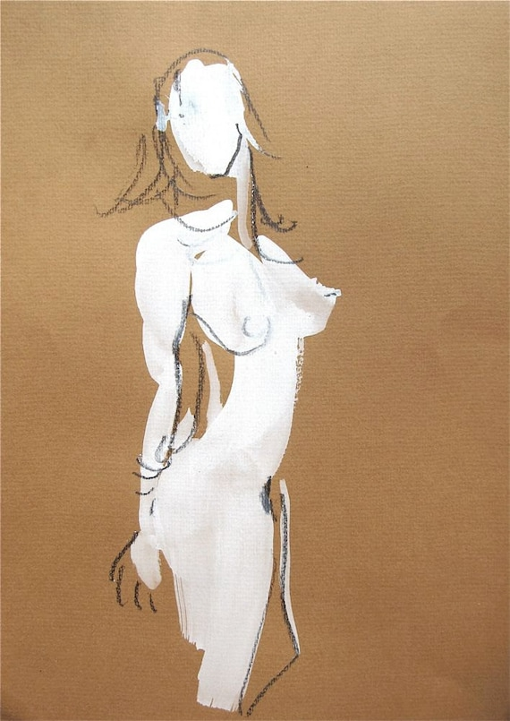 One Minute Pose XXVII.2- original painting by Gretchen Kelly