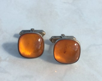 Orange Cabochon Anson Cufflinks