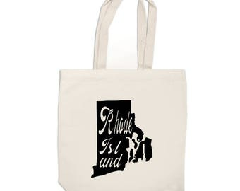 1da9292c9186 Rhode Island Home State Canvas Tote Bag Market Pouch Grocery Reusable  Recycle Go Green Eco Friendly Jenuine Crafts