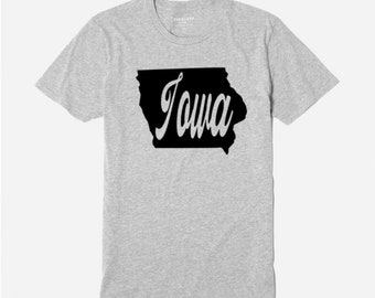cfaed82619c Iowa Home State IA Unisex T Shirt Clothes Top Many Sizes Colors Custom Gift  Jenuine Crafts