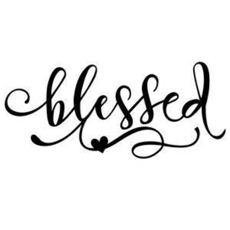81312327c Blessed Religious Faith Christian Vinyl Car Decal Bumper