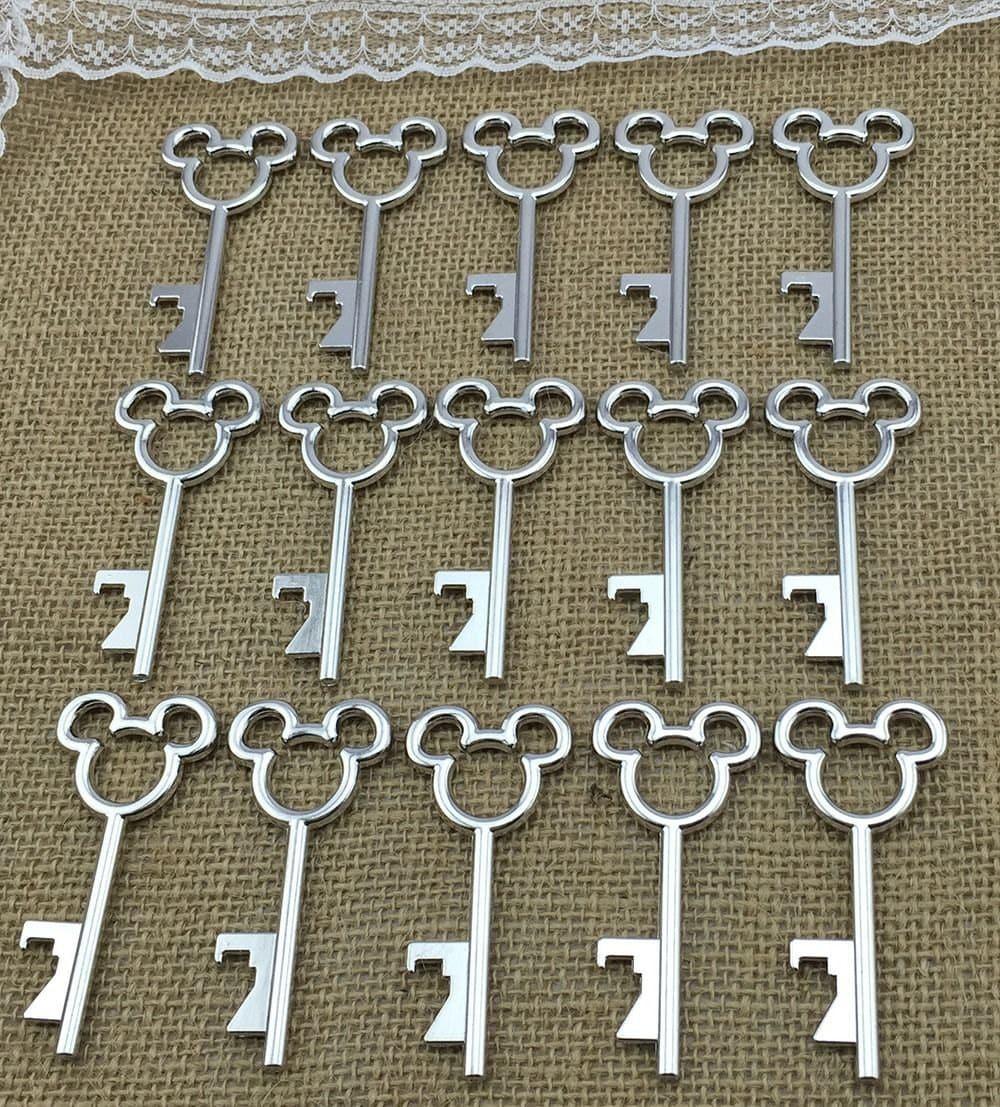 40 clefs souris Jenuine argent mariage faveurs Decor Craft Supplies Jenuine souris l'artisanat e96393