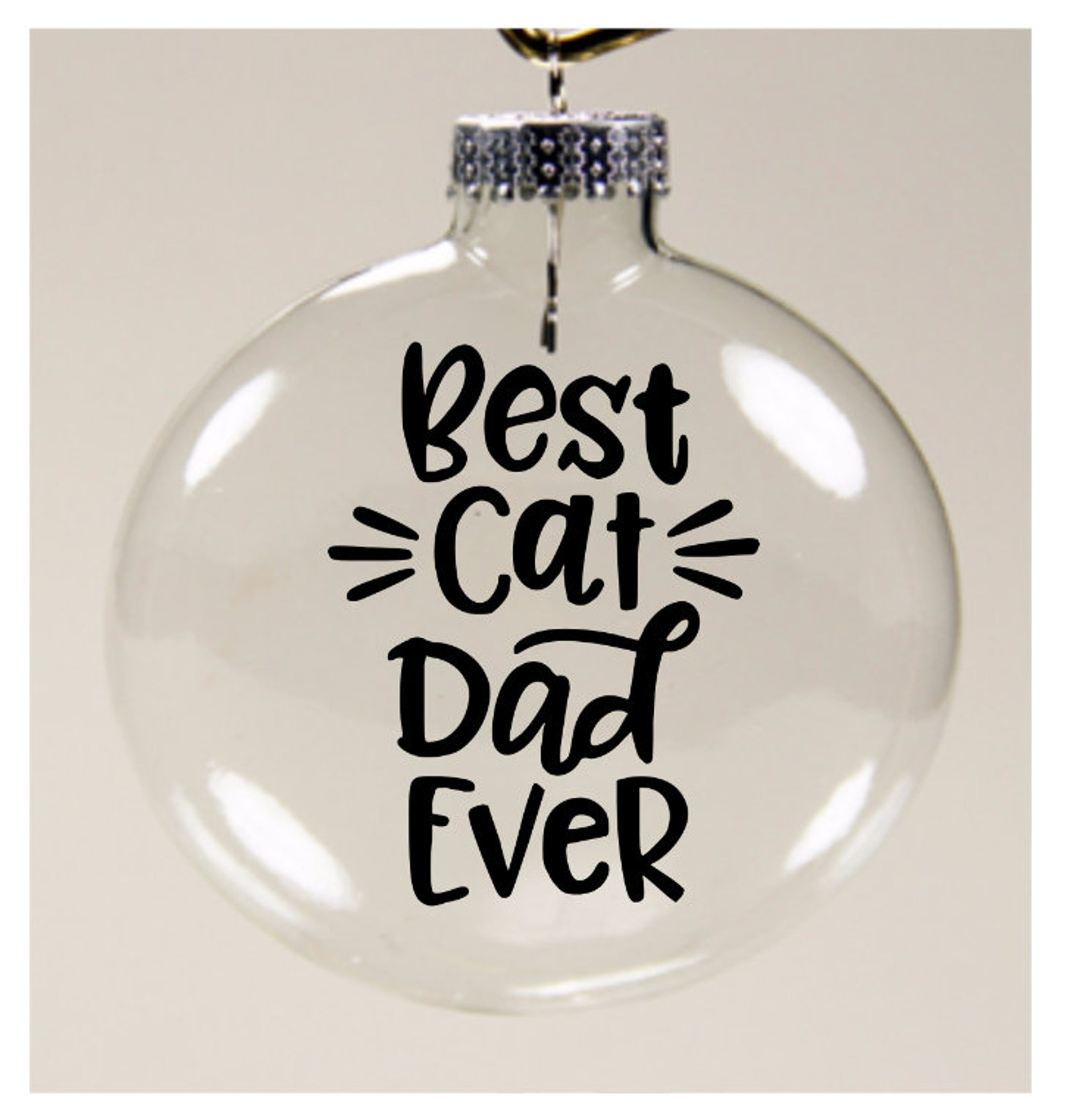 Best Cat Dad Ever Ornament