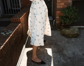 Limited Edition 'Evening Primrose' Gathered Skirt in Woven Polkadot