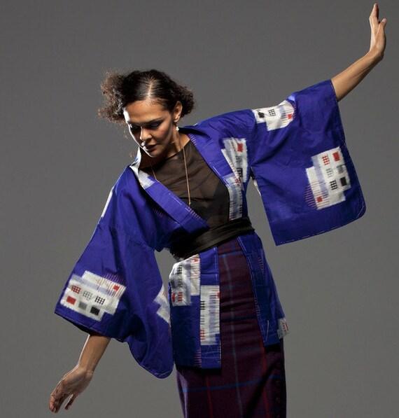 Kimono/Haori, Meisen Silk, 1940s