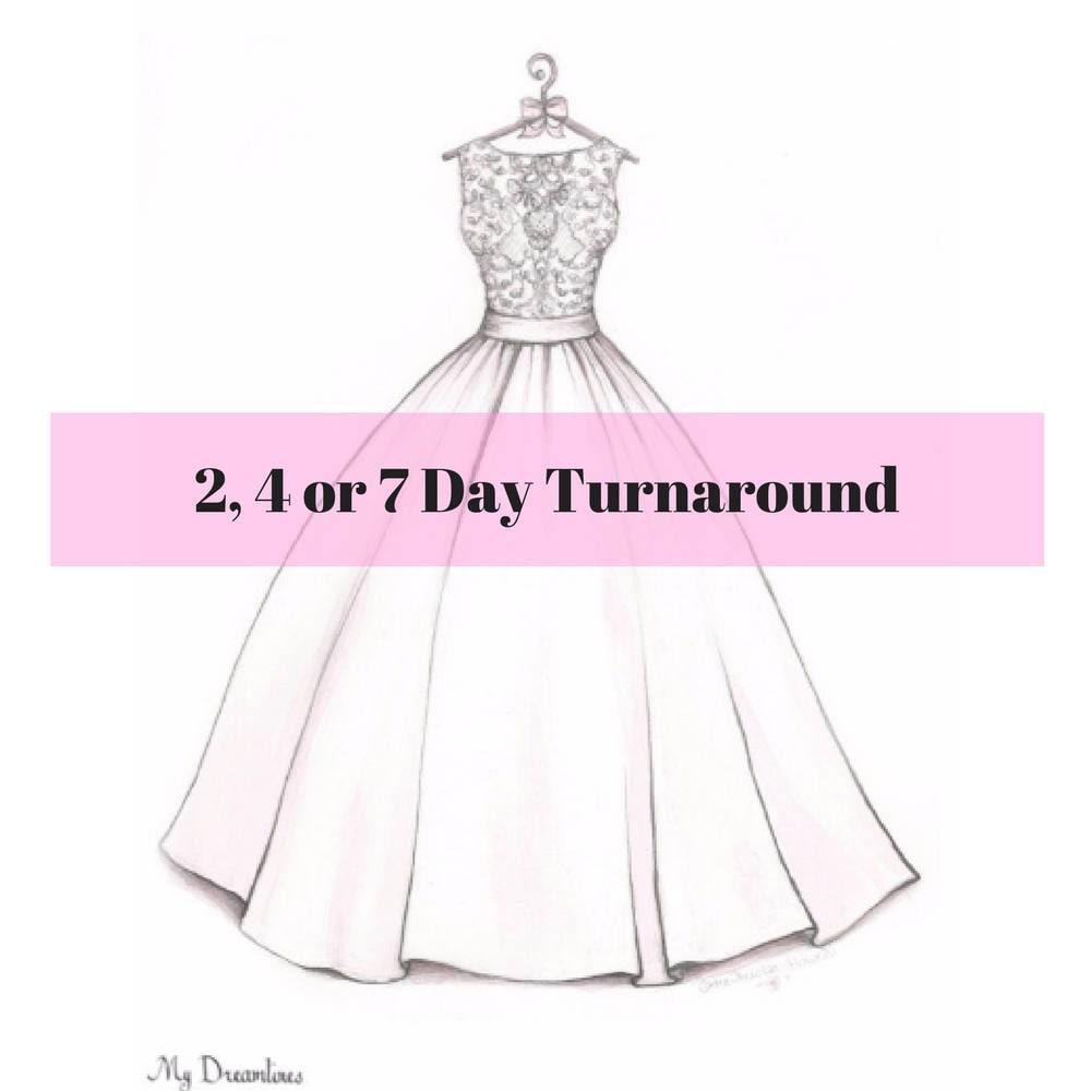 Bridal Shower Gift Wedding Dress Sketch bride gift from maid