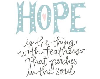 Hope Poster: PDF, Digital Download, Handwritten