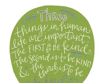 Kindness Poster: PDF, Digital Download, Handwritten