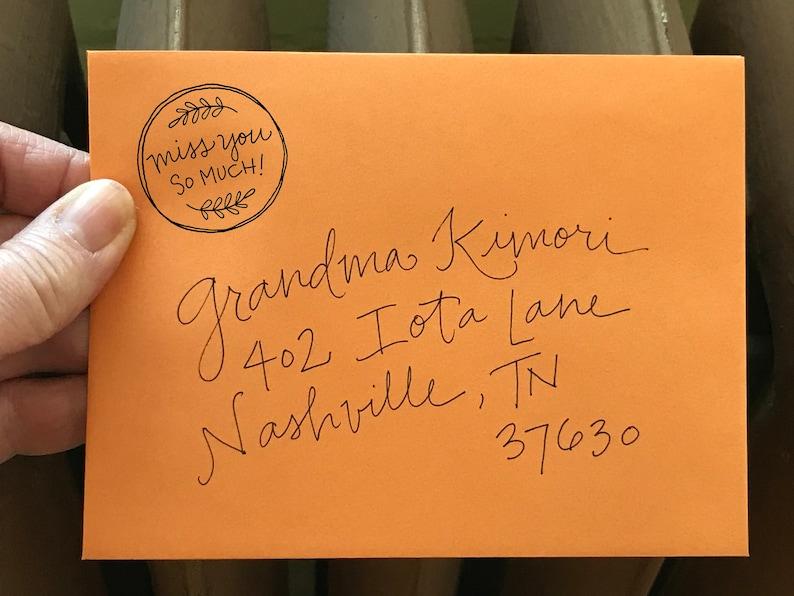 Miss You Stamp Handwritten Snail Mail