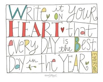 Heart Poster: PDF, Digital Download, Handwritten