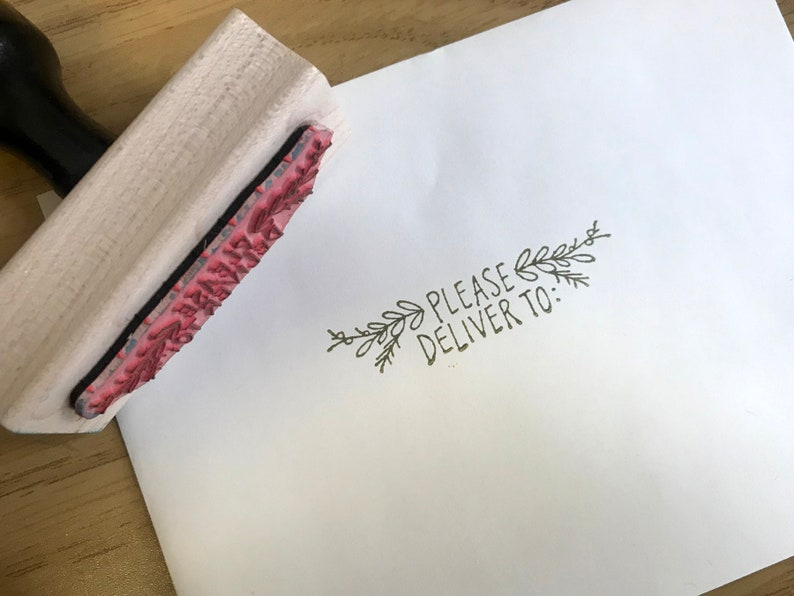 Handwritten Mail Art Stamp Please Deliver Snail Mail