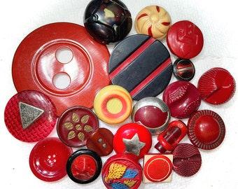 Antique Buttons - 21 Celluloid Buttons