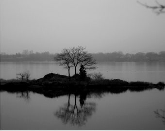 Black and White Rhode Island Photo, Rhode Island Landscape Print, B&W Landscape Print, Black and White Wall Art, New England Photography