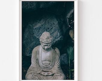 Buddha Photo - Gautama Buddha Print, Yoga Studio Art, Buddha Print, Praying Buddha Photo, Peaceful Wall Art, Meditation Room Art, Yoga Art