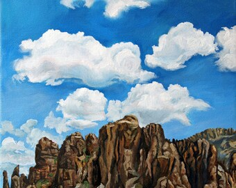 "Very Superstitious -11x14"" Original Landscape Oil Painting"