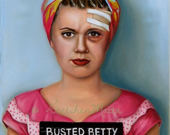 Busted Betty - Original Portrait Oil Painting