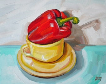 Cup of Pepper - original oil painting