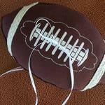 Football Ring Bearer Pillow Brown Laced Team Ring Pillow Wedding