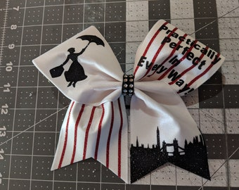 Mary Poppins Practically Perfect In Every Way!, Glitter Cheer Competition Bow