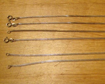 Curb chain bracelets - solid .925 sterling silver - one bracelet - about 7 to 8 inches long - your choice - about 1.5 to 2mm wide