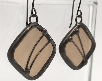Sugar Maple - Sterling Silver Stained Glass Earrings