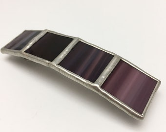 Nightshade - Large Stained Glass French Barrette