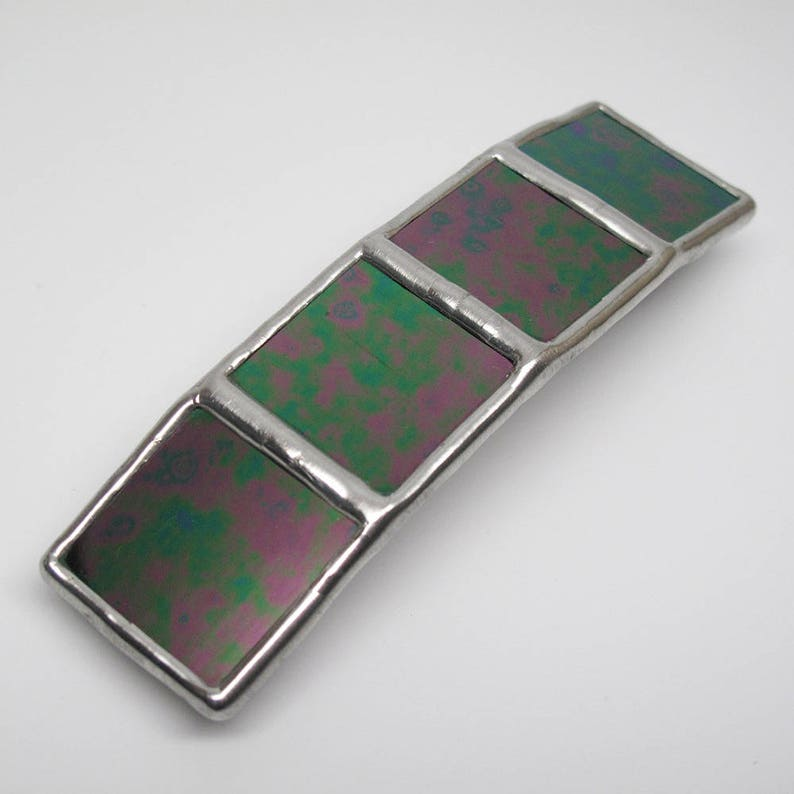 Psychedelic Dream  Large Stained Glass French Barrette image 0