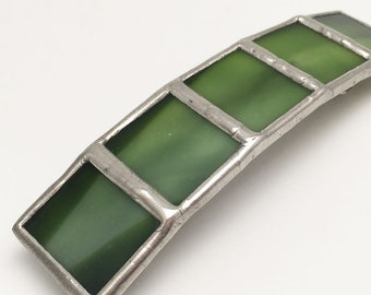 Woodland Shadows - Large Stained Glass French Barrette
