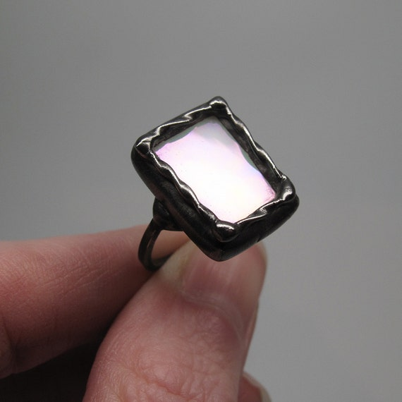 Moonlight Sonata Pottery Barn: Moonlight Sonata Sterling Silver Stained Glass Ring Size 8