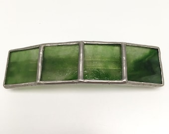 Photosynthesis - Large Stained Glass French Barrette