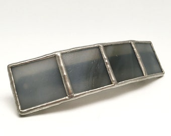 Storm - Large Stained Glass French Barrette