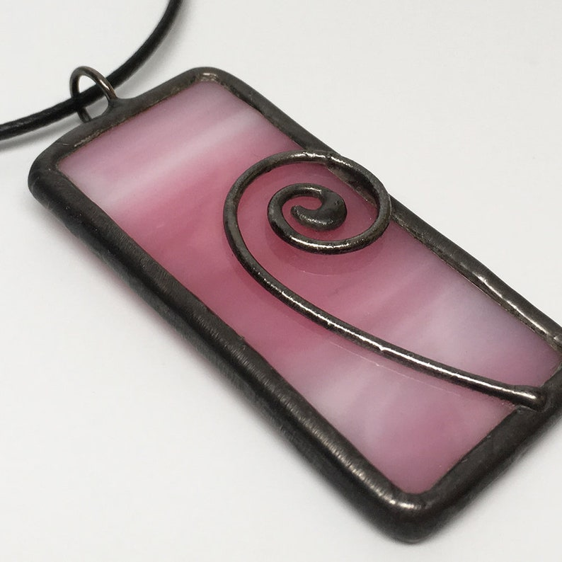 Bubblegum Pop  Stained Glass Pendant with Necklace Cord image 0